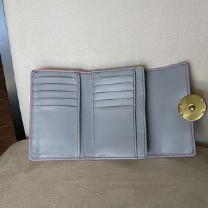 Coach Bags - Coach wallet light purple & tan